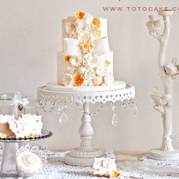 3 pcs/lot blanc métal fer gâteau Stand gâteau Pan fruits plaque ouest palette mariage décoration gâteau outils