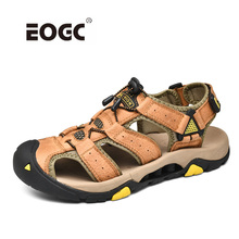 Genuine Leather Men Sandals Plus Size High Quality Outdoor Shoes Waterproof Beach Summer