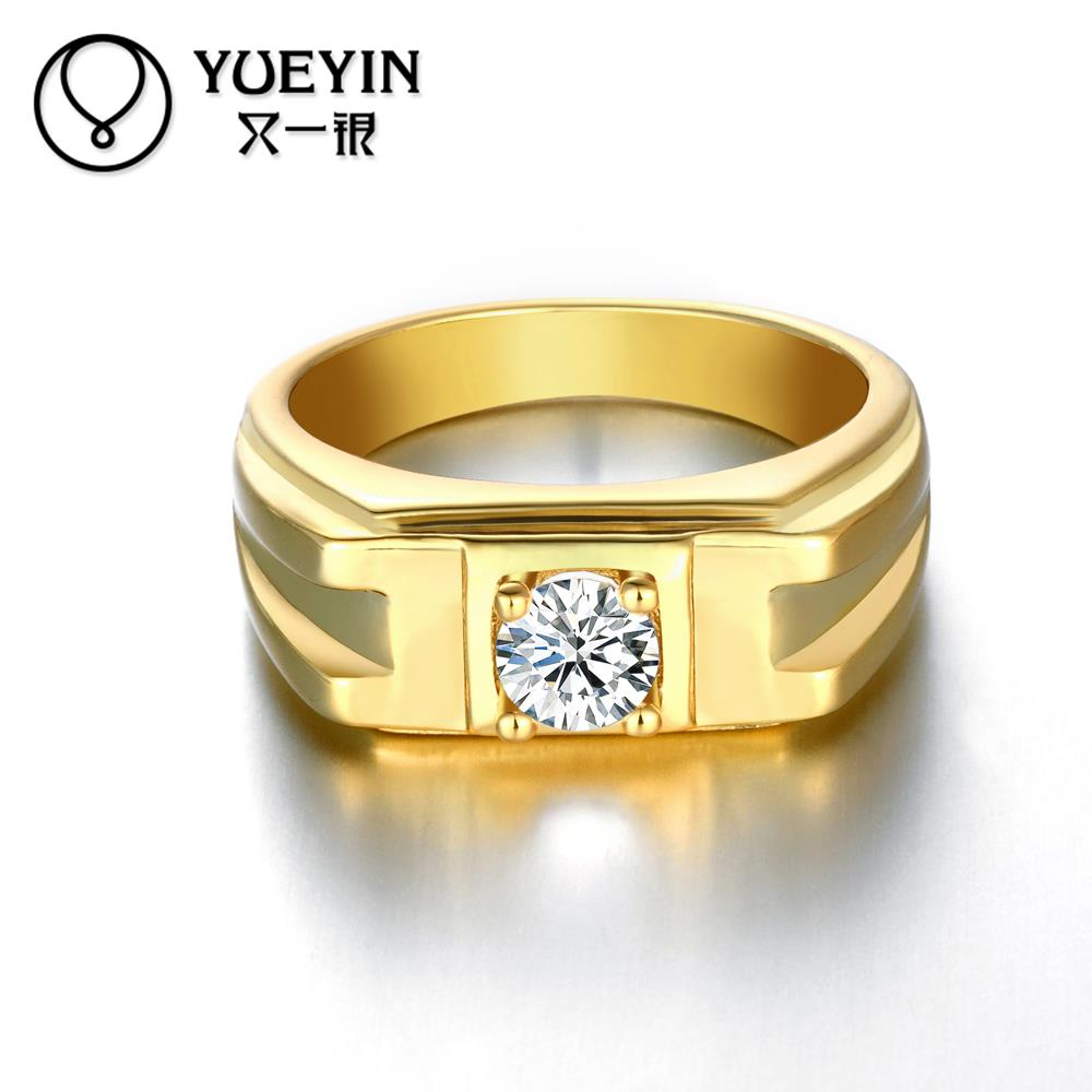 yellow engagement diamond gold rings band