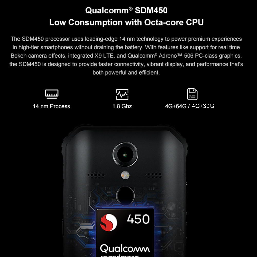 AGM A9 JBL Co Branding 5.99 FHD + 4G + 64G Android 8.1 Robuuste Telefoon 5400 mAh IP68 Waterdichte Smartphone Quad Box Speakers - 4