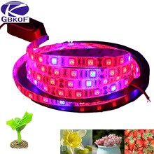GBKOF 5M LED Plant Grow Lights grow strip Waterproof 5050 Hydstems growing 300LEDs Full spectrum Growth plant light Red Blue 4:1