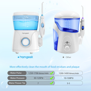 Image 2 - Homgeek Water Flosser Irrigador Monddouche Tanden Cleaner Pick Spa Tand Zorg Schoon Met 7 Tips Voor Familie
