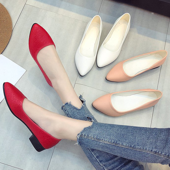 loafers women flats spring women shoes soft pointed toe flats women summer slip-on shoes Korea style ballet flats Doug shoes2018 цены онлайн