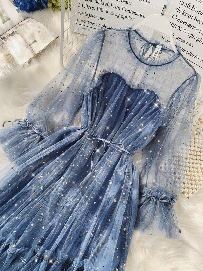 Gauze Two Piece Midi Dress 3