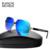 Quadrado de alta qualidade Óculos De Sol Dos Homens Polarizados UV400 Espelho Revestimento de Esporte Da Moda óculos de sol quadro do Ouro óculos de Condução de Grandes Dimensões
