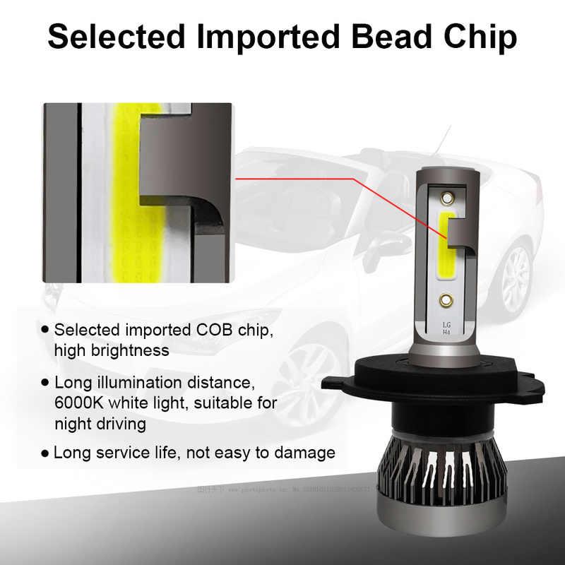 2PCS LED 90W 12000LM Mini Car Headlight Bulbs H4 H11 H7 H1 Headlamps Kit 9005 9006 9012 Auto LED Lamps White High Power 6000K