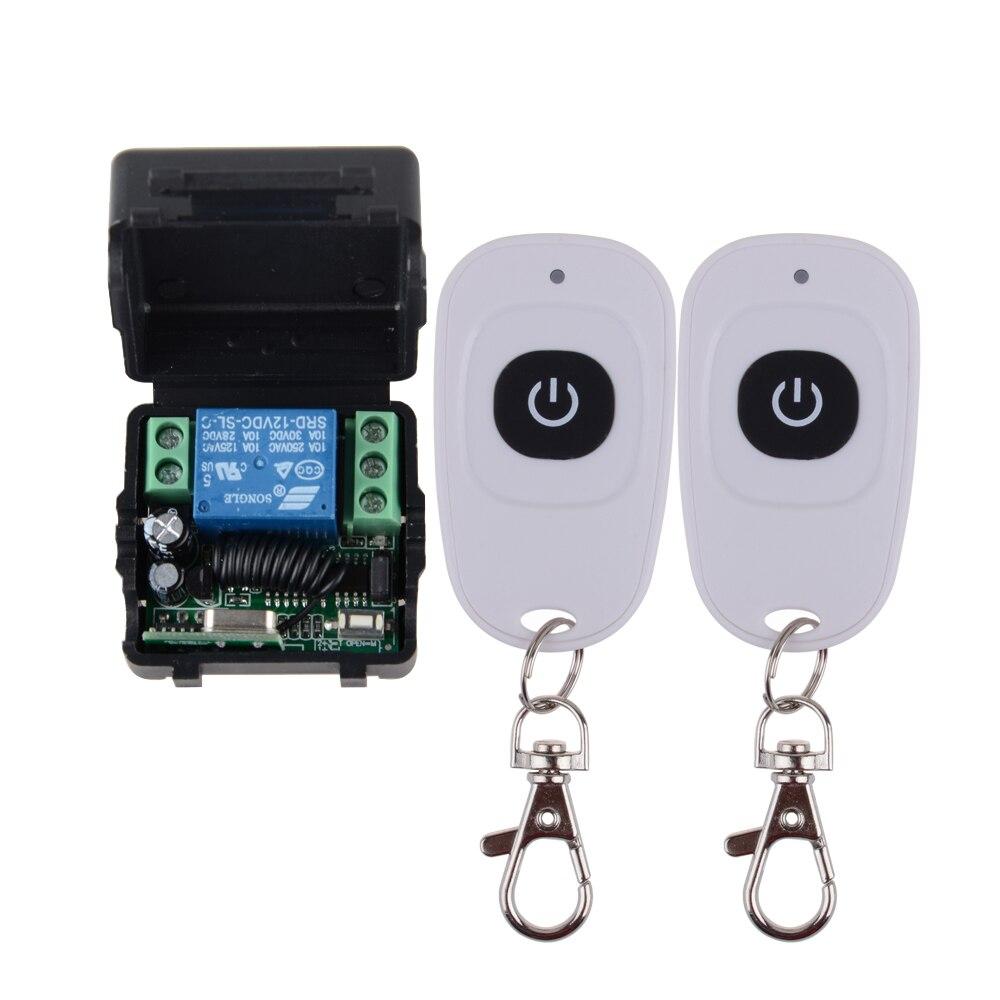 AC220V 1CH 1 Empfänger 2pcs Fernbedienung RF Wireless Transceiver 315MHz Set