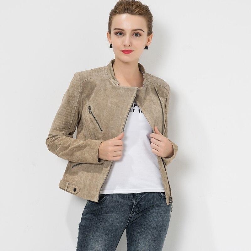 De Cuir En 4xl Manteau Moto Slim Veste Véritable Plus La Réel Biker Fit S Femmes Taille xpXaXvq