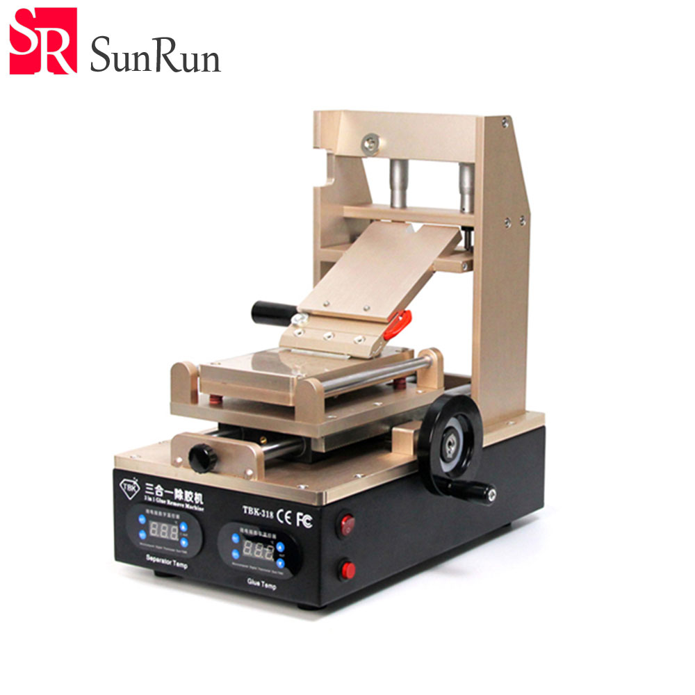 TBK TBK-318 Glue Remove Machine, Vacuum LCD Screen Separator + Preheater +OCA Glue Polarizer Remover Mobile Phone LCD Screen uyue new glue remover machine for various models mobile phone lcd touch screen glue remove machine gl368