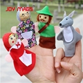 JOY MAGS Toys Finger Puppets Plush Toy Stuffed Toys Little Red Riding Hood Story
