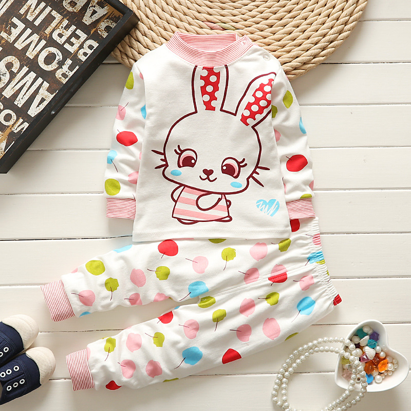 Sonbahar kış bebek bebes giyim Pamuk sevimli hello kitty takım Minions giyim bebek erkek bebek kız giysileri 2 adet giyim set