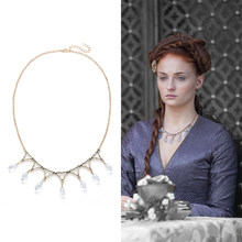 GOT Sansa Stark Poison Wedding Necklace Replica Handmade Jewelry with Purple Crystals Necklace Game of Thrones Cosplay Costume(China)