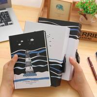 Lindo Cuaderno Viajero Cuadernos Diario Con Cerradura de La Vendimia de Corea Papelería 2018 Programa kawaii Niño Niñas Regalos Útiles Escolares