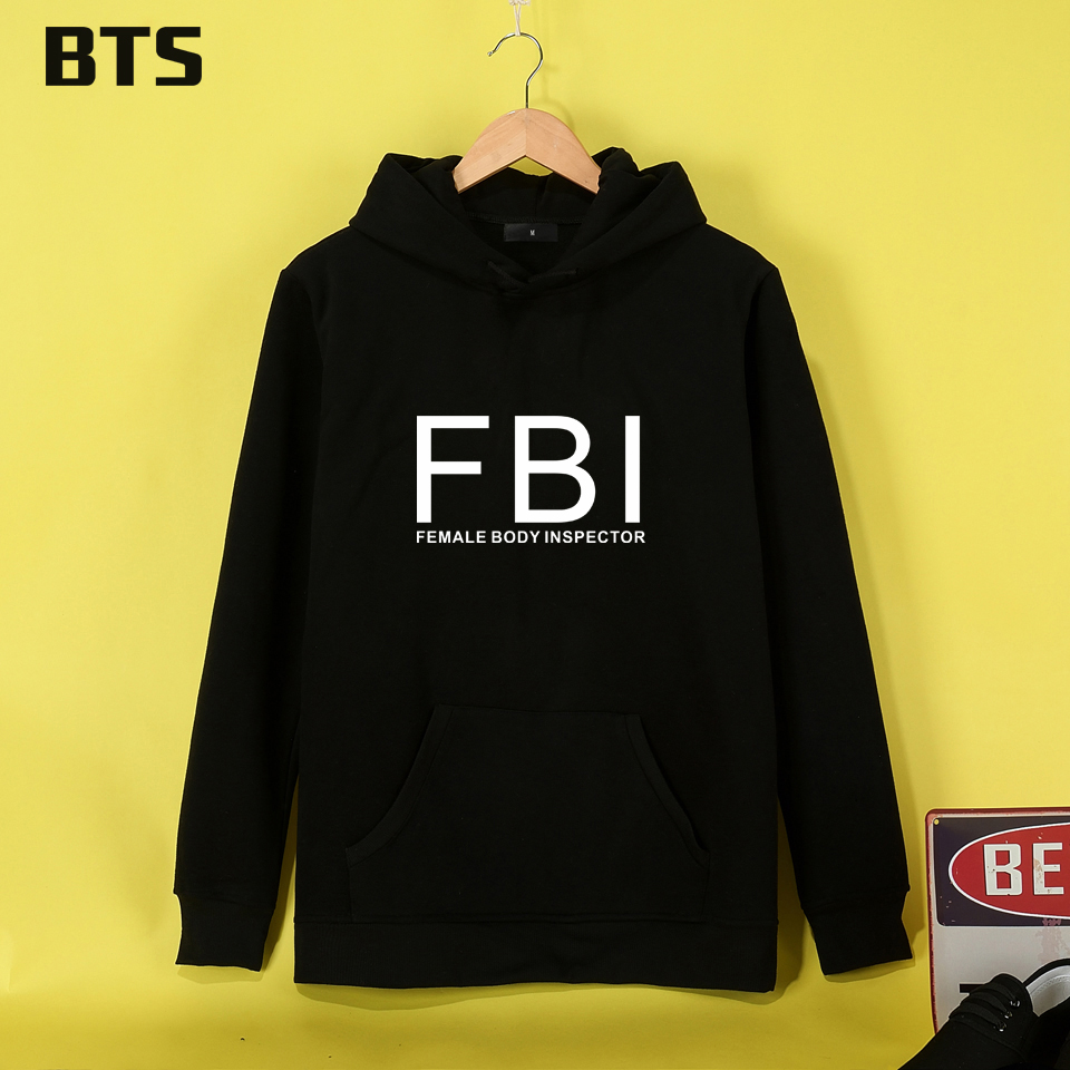 BTS FBI FEMALE BODY INSPECTOR Hoodies Mulheres Comfortable Female Sweatshirt High Quality Women Hoodies Sweatshirts Long Sleeve