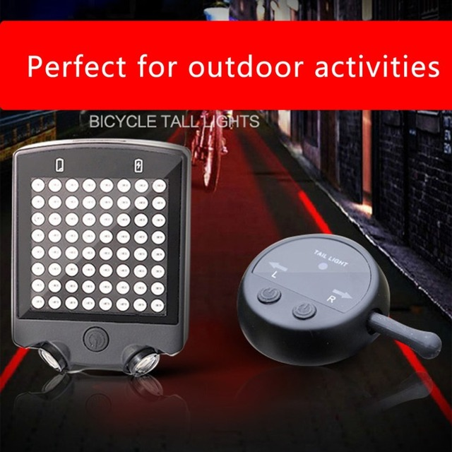 OUTAD 3.7v 3 modes Rechargeable Rear Wireless remote control turn signal Laser