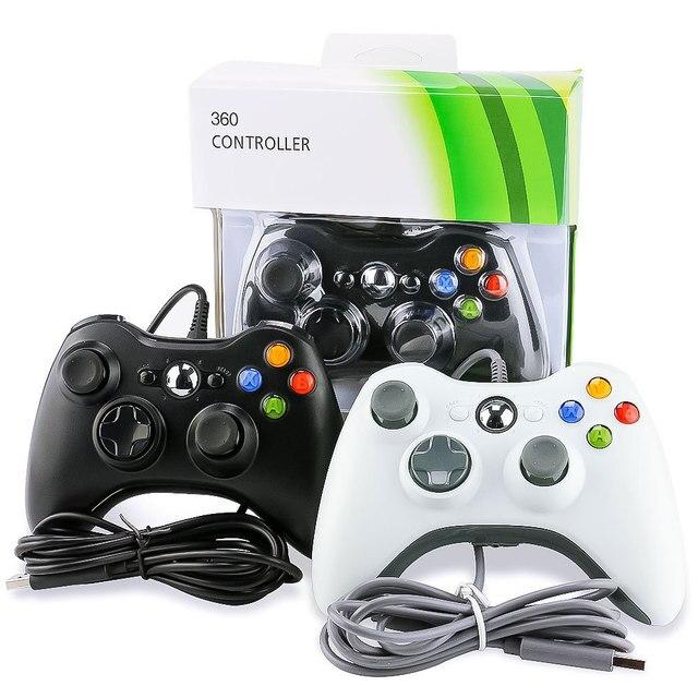 Gamepad com fio Para Xbox 360 Controlador Para Joystick Para Oficial Microsoft XBOX 360 Controle USB PC Controlador Para Windows 7 /8/10