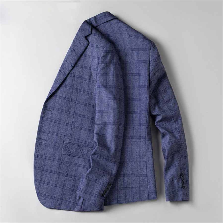 Casual Blazer Men Slim Fit  Plus Size 4XL Single Breasted Plaid  Suit Jacket Spring Summer Bussiness Blazer Masculino Ds50554