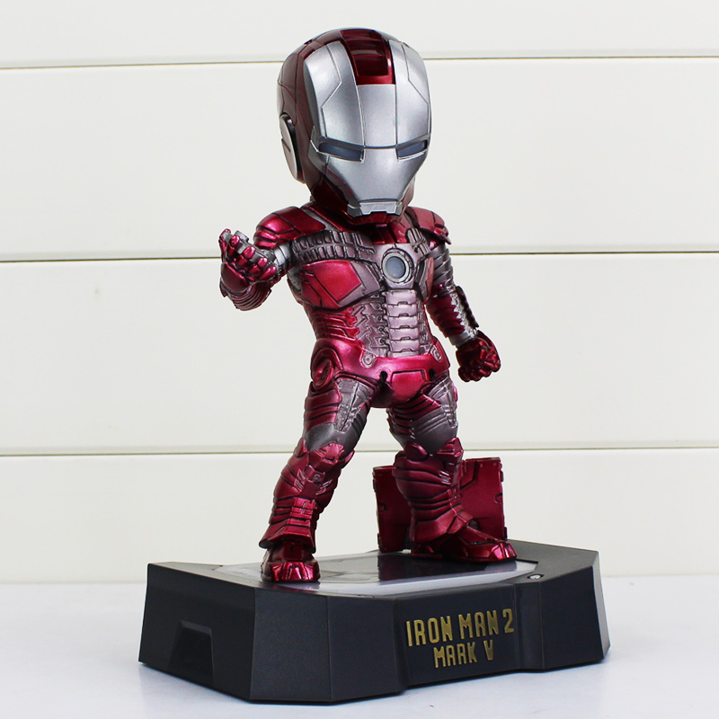 21cm Iron Man Egg Attack Action Figure Iron Man 2 Mark 5 American Superhero Model Toys Iron Man Collectible Figurines free shipping marvel egg attack iron man 2 mark 4 action figure collection model toy 8 20cm im018