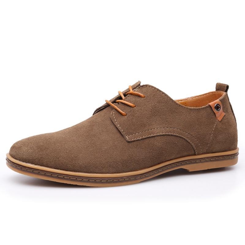 Fashion atas sepatu kasual pria 2018 Flat musim panas baru renda up - Sepatu Pria - Foto 3