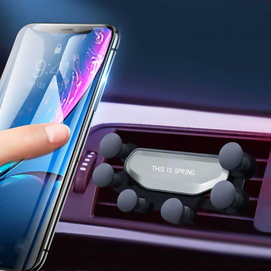 Гравитационный Автомобильный держатель для телефона для iphone X Xs Max samsung S9, держатель на вентиляционное отверстие автомобиля, автомобильные держатели для Xiaomi huawei, подставка для мобильного телефона