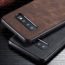 For Samsung Galaxy Note 10 Plus case Luxury Vintage PU Leather Back Thin Case Cover for Samsung S10  S9 S9 Plus Note 9 Note10 5G samsung note 10 plus case original clear hard cover transparent pc plating samsung galaxy note 10 plus 5g note10 pro back case