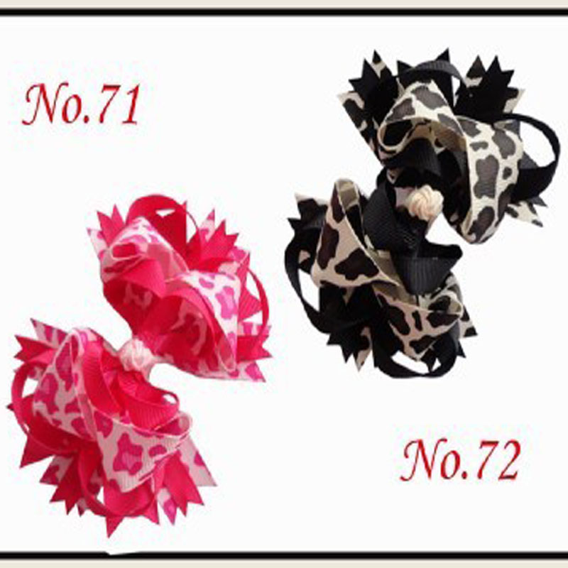 50 BLESSING Good Girl Custom Boutique 4.5 Inch Ring Hair Bows Clip 74 No.