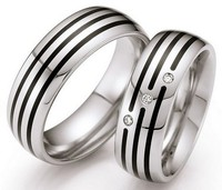 2014 Luxury 100% Pure Titanium Handmade wedding bands engagement rings sets for lovers couples