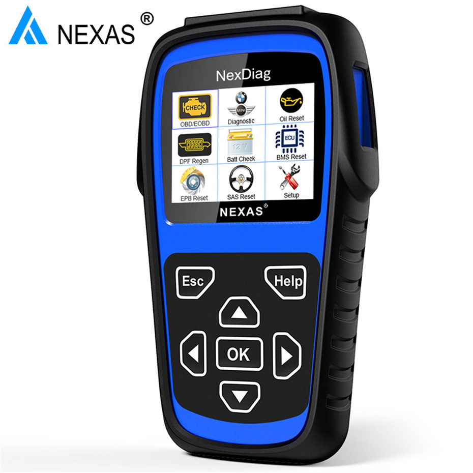 Nexas ND601 OBD2 Diagnostic Scanner Engine ABS Airbag SAS EPB BMS Oil Reset  DPF For 1/2/3/4/5/6/7/X/Z/I/R/F series