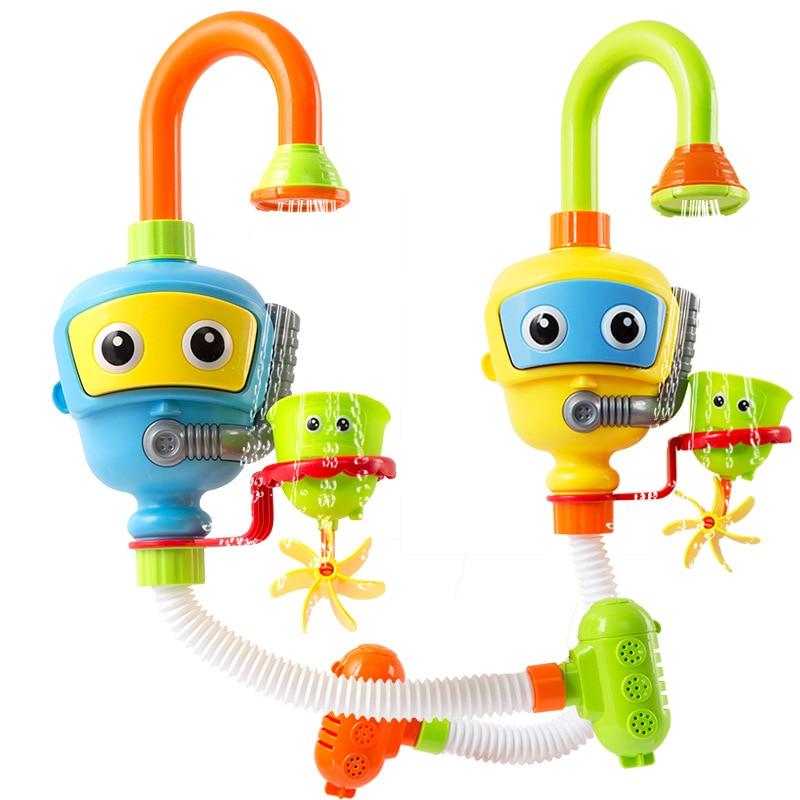 Baby Badespielzeug Badewanne Zubehör Wasserrad Dusche Spray Wasser Spielen Spiel für Bad Spielzeug Kinder