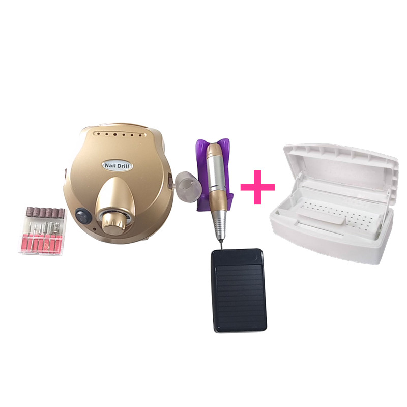 Pro Nail Tools 30000 RPM Electric Nail Drill Machine Manicure  Accessory Acry& tray Disinfection Box for Steel Metal Nipper Twee nail clipper cuticle nipper cutter stainless steel pedicure manicure scissor nail tool for trim dead skin cuticle