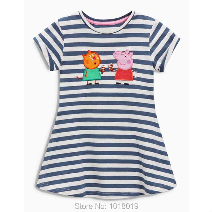 Kids Dresses New 2017 Brand Quality 100% Cotton Baby Girls Dress Summer Children Clothing Baby Girl Clothes Striped Little Dress 2016 new girls clothes brand baby costume cotton kids dresses for girls striped girl clothing 2 10 year children dress vestidos