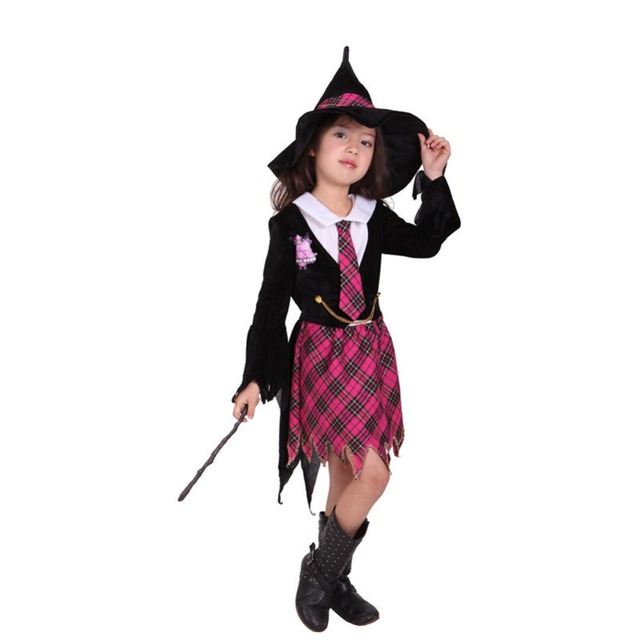 children girls witch halloween costume cosplay outfit sz 5 9 years