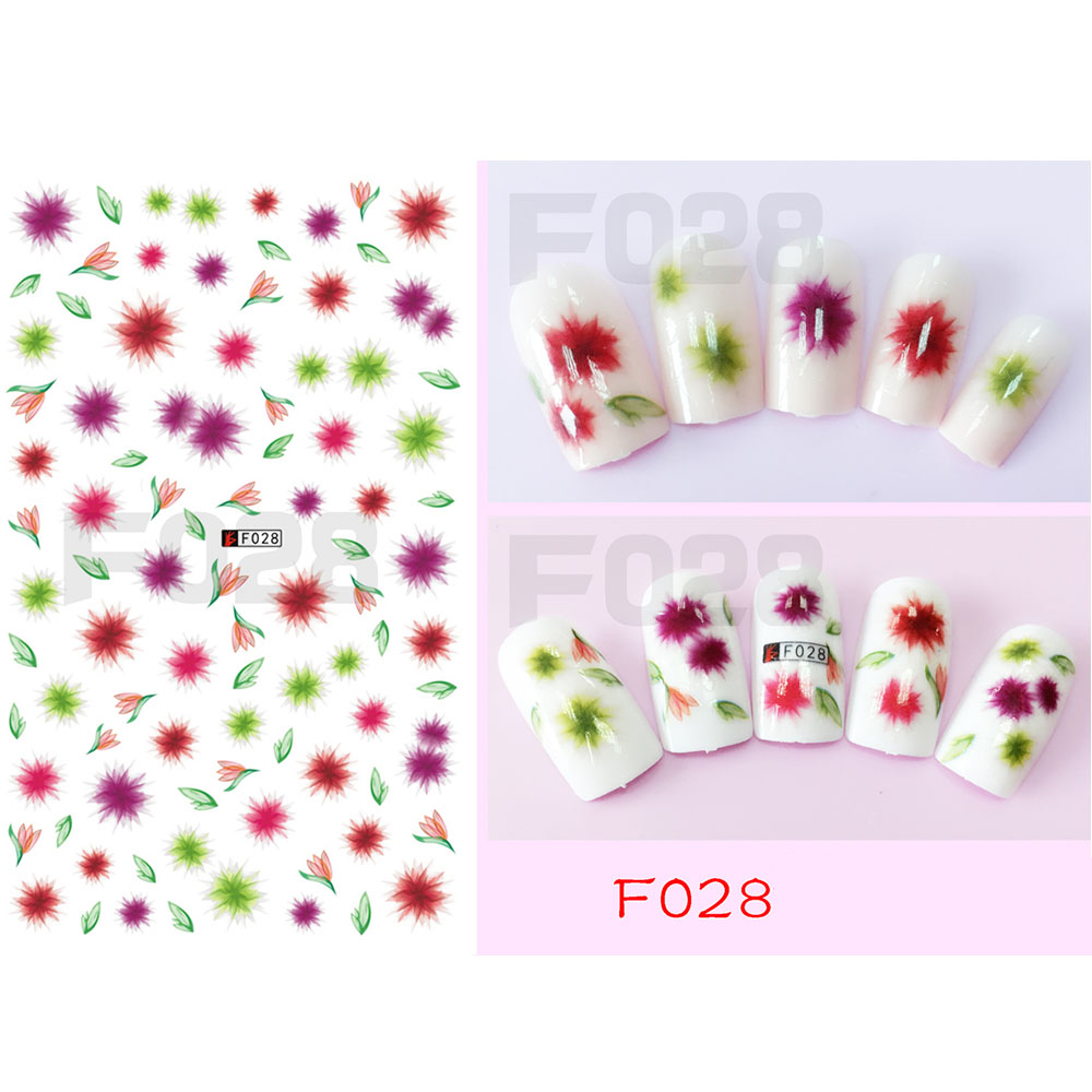 1 stücke 3D Nagel Aufkleber Blühende Blume DIY Nagelkunst Bogen ...