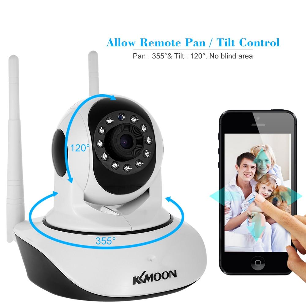 KKmoon 720P Wireless WIFI Pan Tilt PTZ IP Camera CCTV Two-way Audio Night Vision