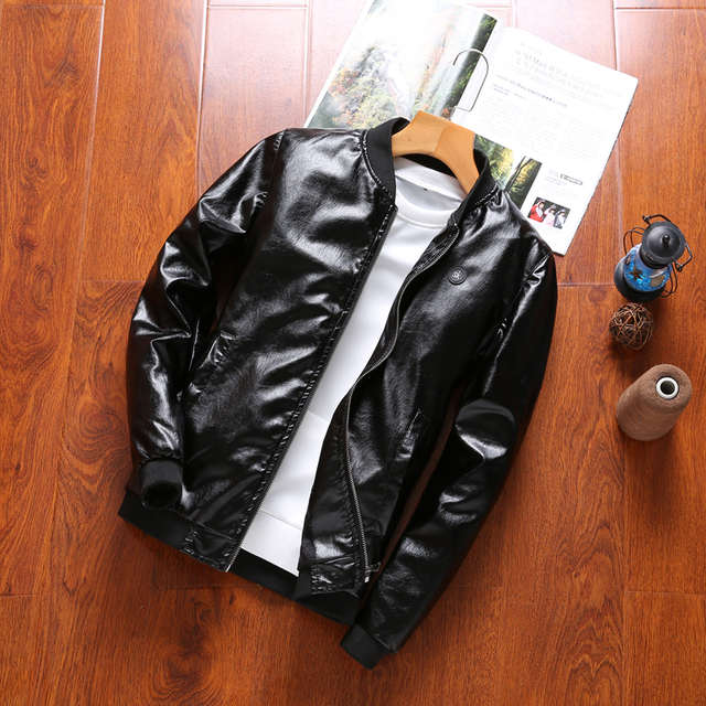 Madhero leather jacket men motorcycle jacket jaqueta de couro