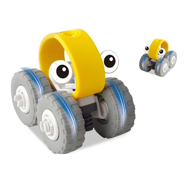 1 Piece Cute Mini DIY Yellow Model Car Assembly Transportation Toy For Children Model Educational Diecasts & Toy Vehicles Gift