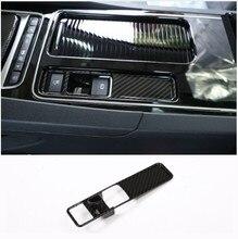 Углеродное волокно стиль интерьер электронный переключатель ручного тормоза Кнопка украшения Рамка для Jaguar XFL XE F-Pace 2016-2018 автомобильный аксессуар