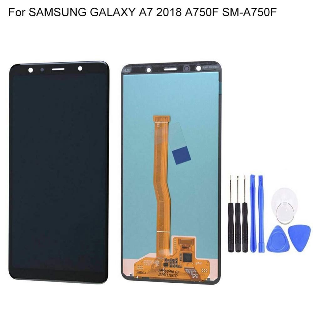 Super AMOLED 6.0 LCD For SAMSUNG Galaxy A7 2018 LCD Display Touch Screen Digitizer Assembly For Samsung A7 A750 A750F LCDSuper AMOLED 6.0 LCD For SAMSUNG Galaxy A7 2018 LCD Display Touch Screen Digitizer Assembly For Samsung A7 A750 A750F LCD
