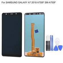 Super AMOLED 6.0 LCD For SAMSUNG Galaxy A7 2018 LCD Display Touch Screen Digitizer Assembly For Samsung A7 A750 A750F LCD 7 touch screen digitizer sensor glass lcd display monitor assembly for lenovo tab 2 tab2 a7 30hc a7 30 a7 30dc