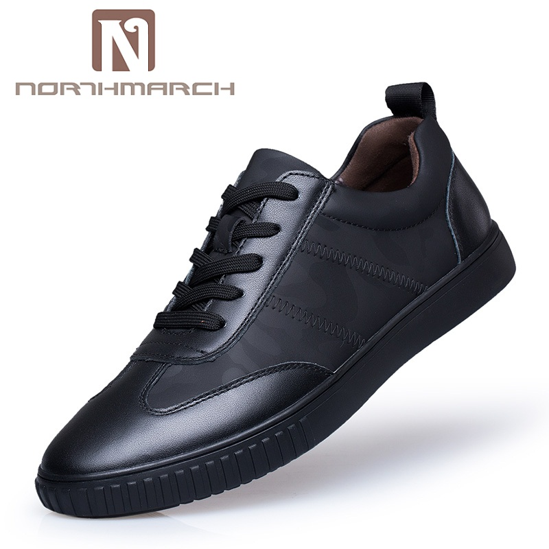 NORTHMARCH Male Shoes Casual Fashion Men's Shoes Genuine Leather Luxury Brand Breathable Men Shoes Zapatillas Hombre Deportiva