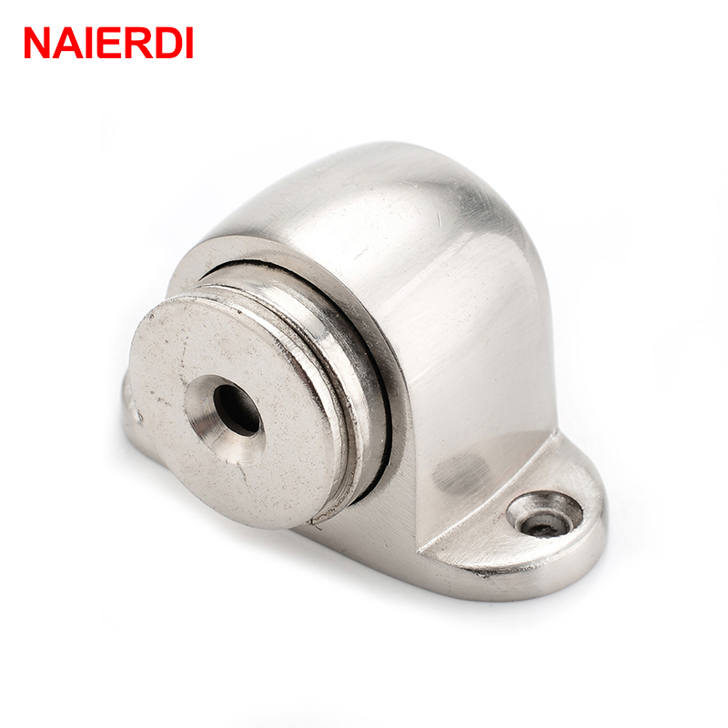 цена на NAIERDI Door Stops Magnetic Zinc Alloy Door Stopper Holder Powerful Floor-Mounted With Screws For Family Home Furniture Hardware