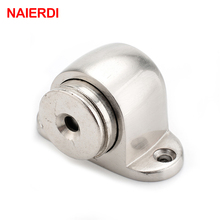 NED Zinc Alloy Door Stop Casting Powerful Floor-mounted Magnetic Holder 54mm*35mm Satin Nickel Brushed Stopper