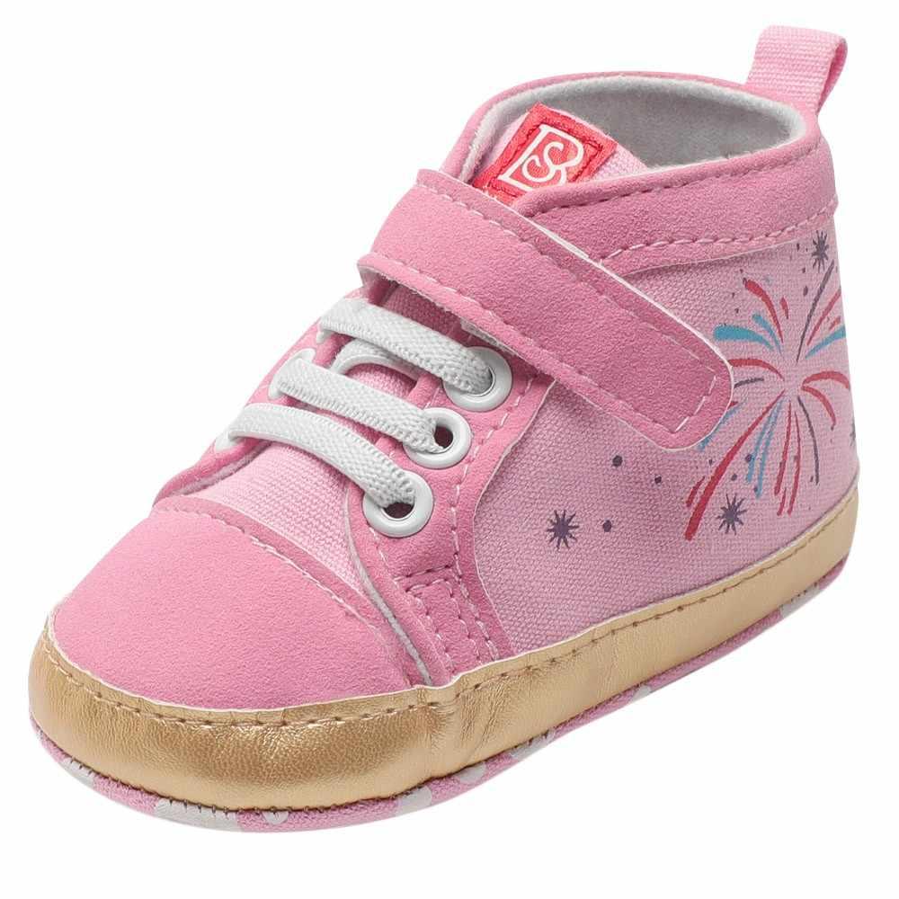 2018 Fasion חם למכור הטוב ביותר מתנת יילוד תינוק תינוק בני בנות סתיו בד וו & לולאה רך בלעדי אתחול ראשון הליכון