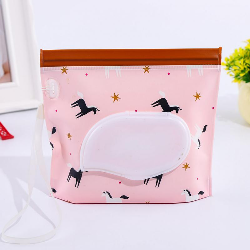 Pouch Self-sealing Wipes Wet Wipe Self-supporting Dispenser Holder Refillable PVC Bag Reusable