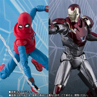 Avengers Spider Man Homecoming SHF Spiderman Home Made Suit Ver Ironman MK47 Superhero Action Figure Kit