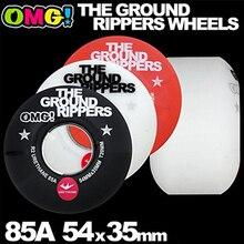 をプロ OMG ソフトスケートホイール 54mm85A ダブルロッカースケートボードトラック Rodas デスケートホイール黒/ホワイト/ 赤