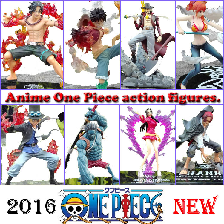 Anime One Piece Fighting Zoro Luffy Sabo Hancock Nami Sanji Ace PVC Åtgärd Figur Collectible Model Toy New World
