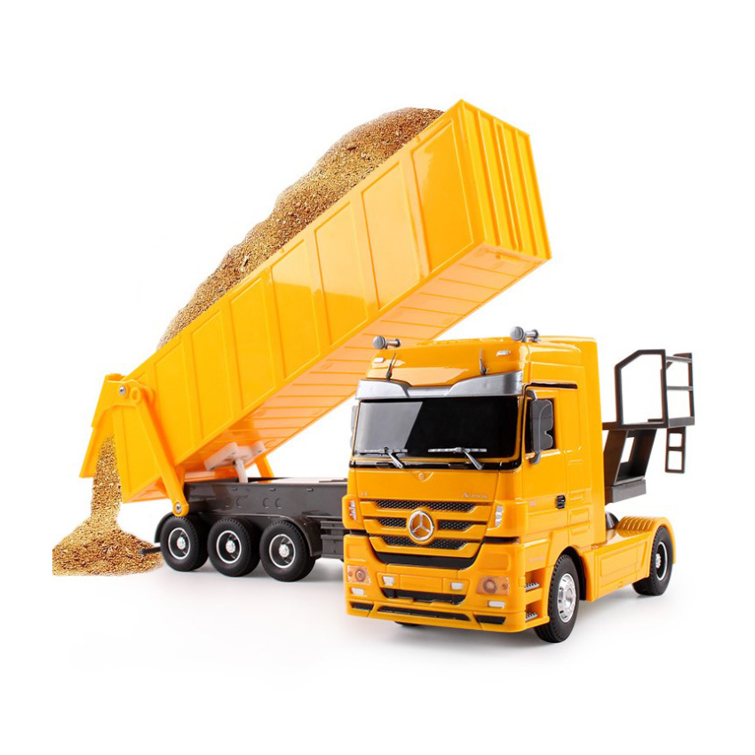 RC Truck Dumper Tilting Cart Radio Control Tip Lorry Auto Lift Engineering Container car model Vehicle