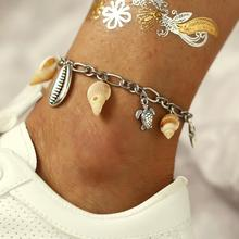Doreen Box Bohemian Style For Women Ankle Bracelets Foot Beach Party Silver Metal Starfish Shell Turtle Charms Jewelry