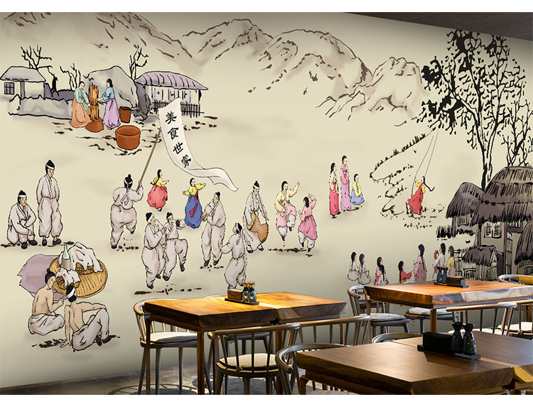 Us 10 92 48 Off Custom Mural 3d Korean Cuisine Wallpaper Leisure Bar Restaurant Theme Hotel Snack Shop Background Beverage Food Wallpaper Mural In
